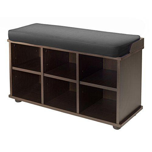 Winsome Townsend Bench with Black Cushion Seat Winsome http://www ...