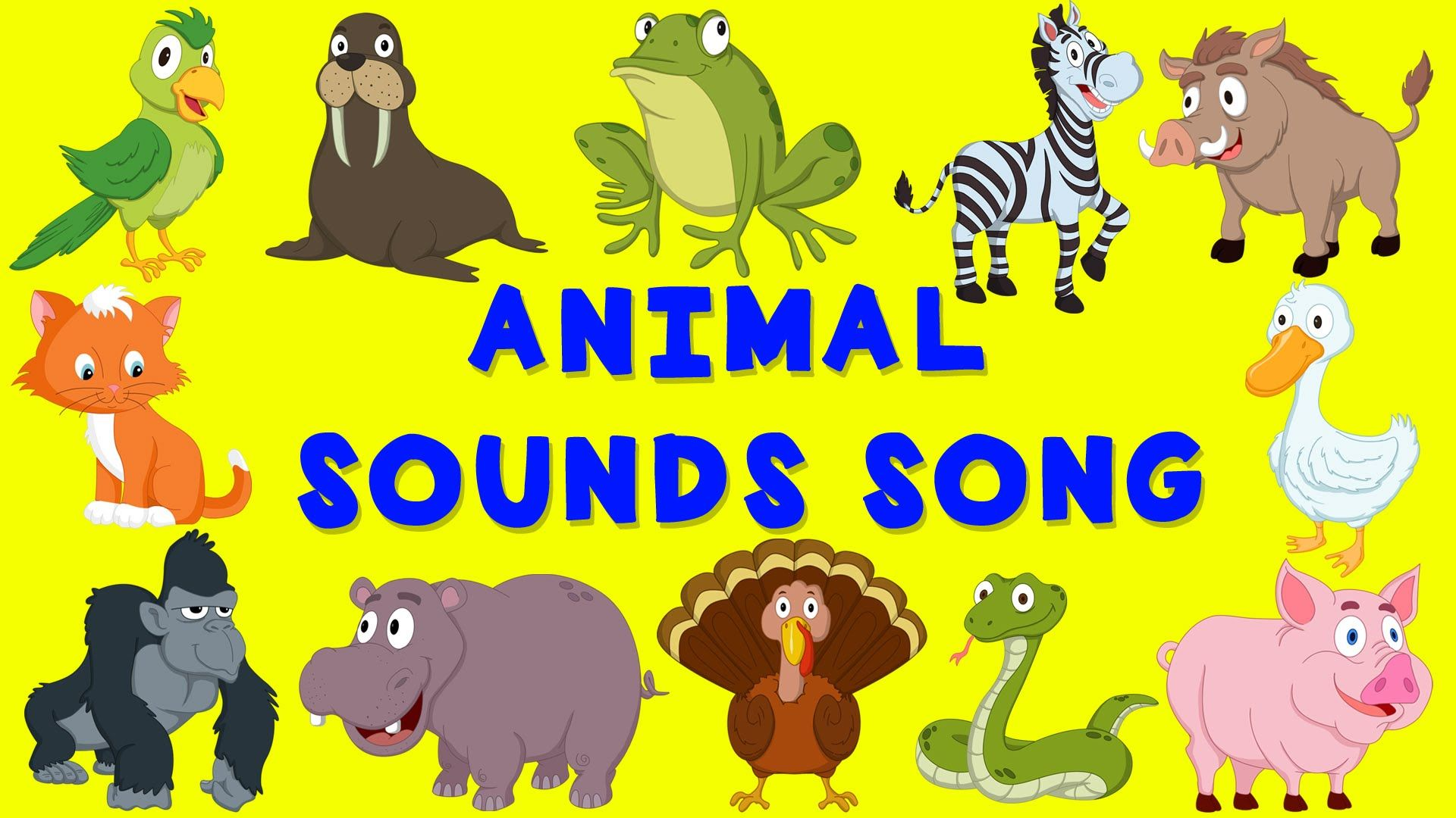 Animal Sounds Song English nursery rhyme Baby Song for