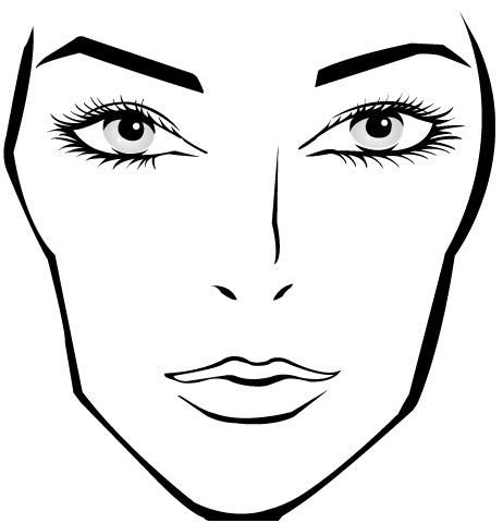 17 Best images about MAKE UP TEMPLATES – Blank Face Template Printable