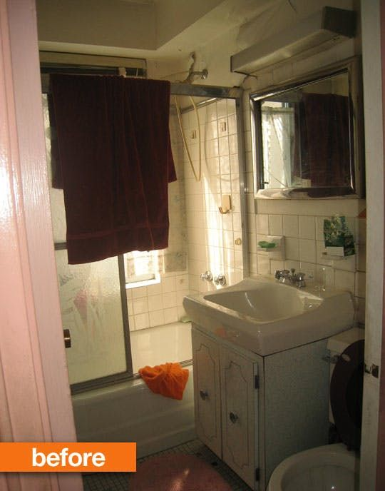 Before After A Modern Bathroom Update In The West Village West - Before and after bathroom updates