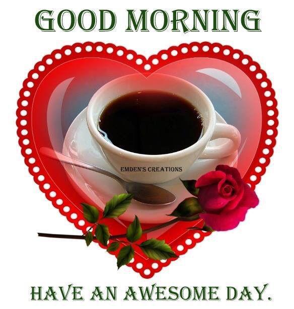 Good Morning Love Heart Images : Good morning heart coffee pinterest