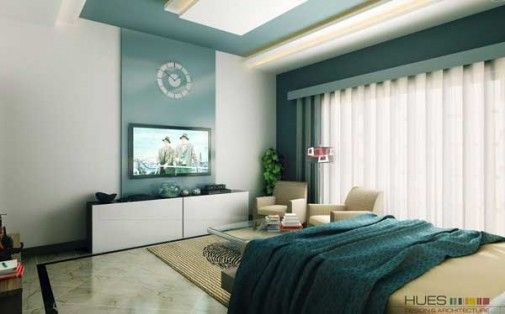 Interior Color Scheme Ideas With Green Tosca Colour Wall Paint For Bedroom White And Combination