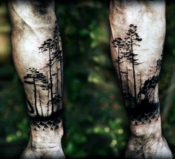 100 Forest Tattoo Designs For Men - Masculine Tree Ink ...