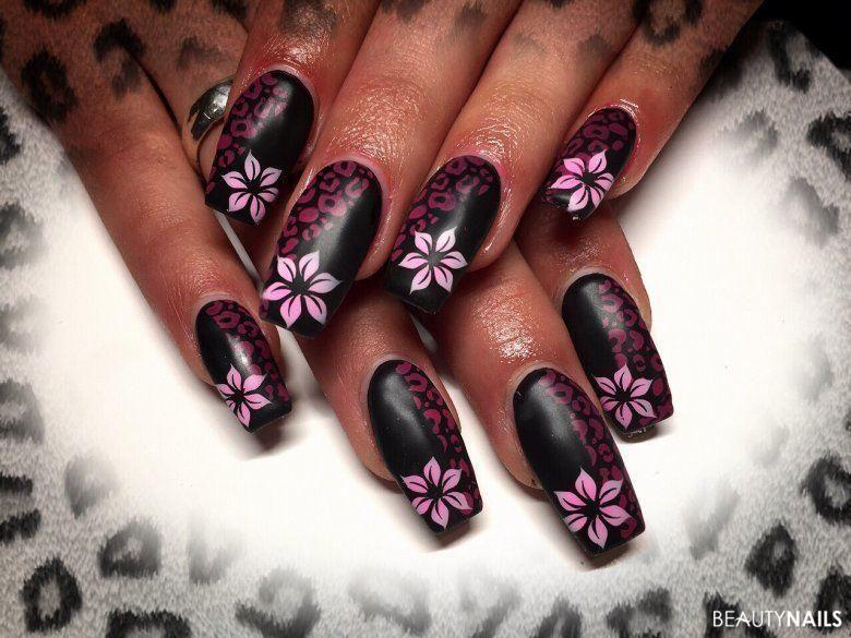 airbrush leopard bl mchen dark and white nails pinterest nagelschere nageldesign und. Black Bedroom Furniture Sets. Home Design Ideas