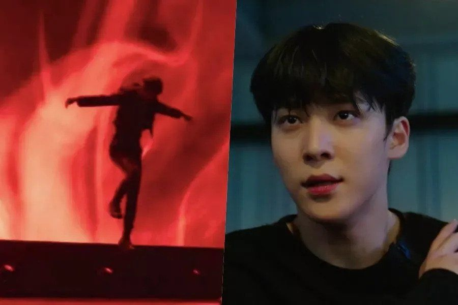 """Watch: Lee Jun Young And ATEEZ's Yunho Face Off As Idol Rivals In 1st Teasers For Upcoming Drama """"Imitation"""""""