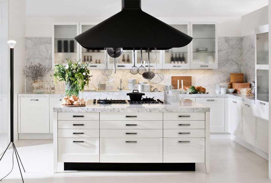Kücheninsel Weiß ~ Funktionelle küchenmöbel ideen kücheninsel hochglanz weiß design