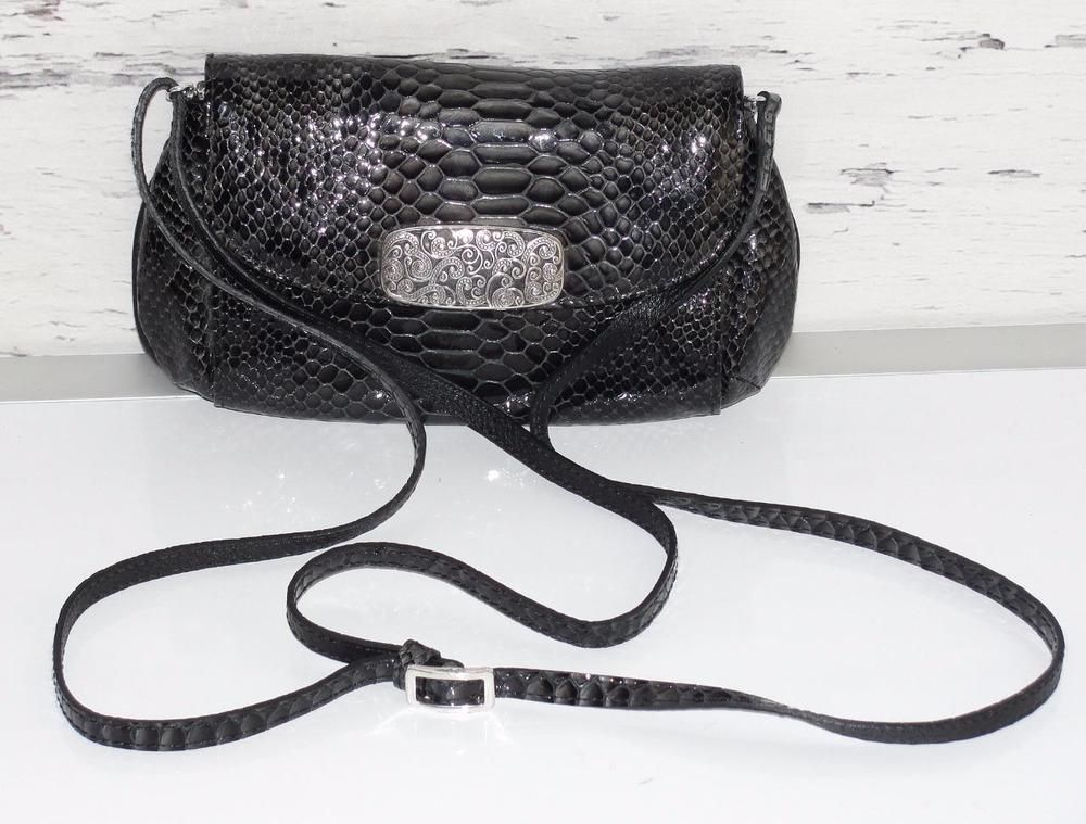Brighton Black Croc Organizer Or Purses