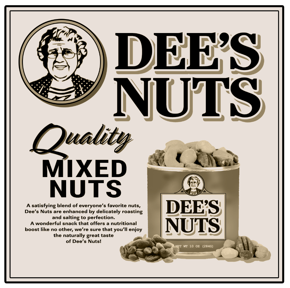 Dee S Nuts Quality Mixed Nuts Deez Nutz Stretched Canvas Don T Even Name It Mixed Nuts Psych Tv Funny Tees Women