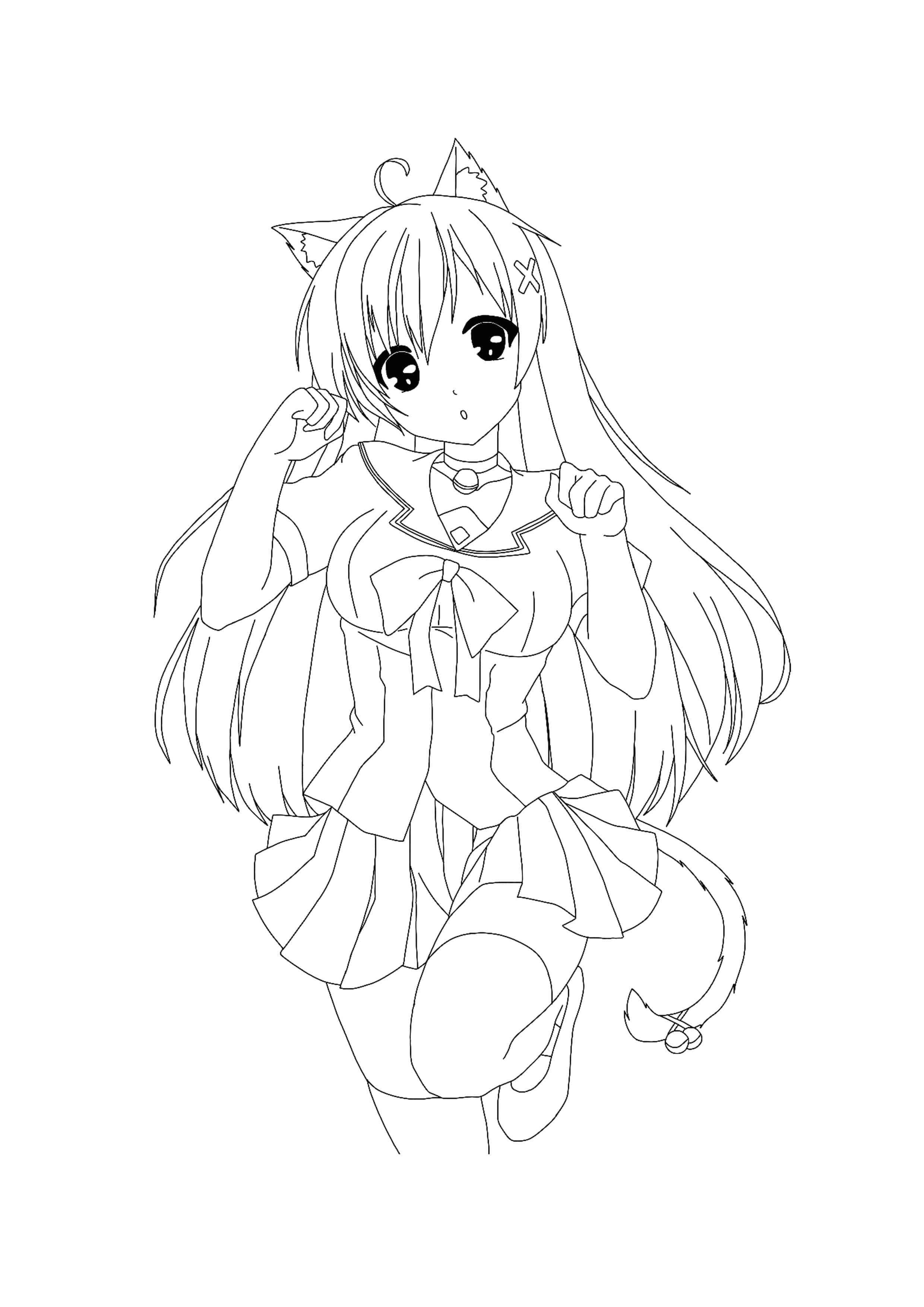 Pin On Kawaii Coloring Pages [ 3508 x 2480 Pixel ]