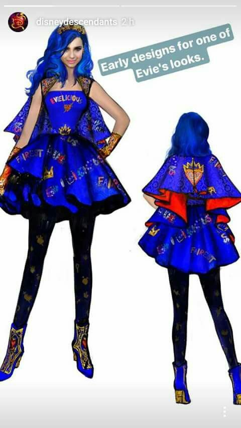 disney descendants 2 outfits from sketches to screen