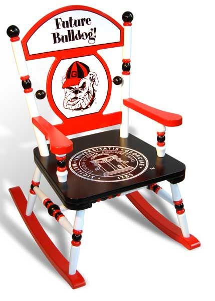 Marvelous University Of Georgia Future Bulldog Rocking Chair Gmtry Best Dining Table And Chair Ideas Images Gmtryco
