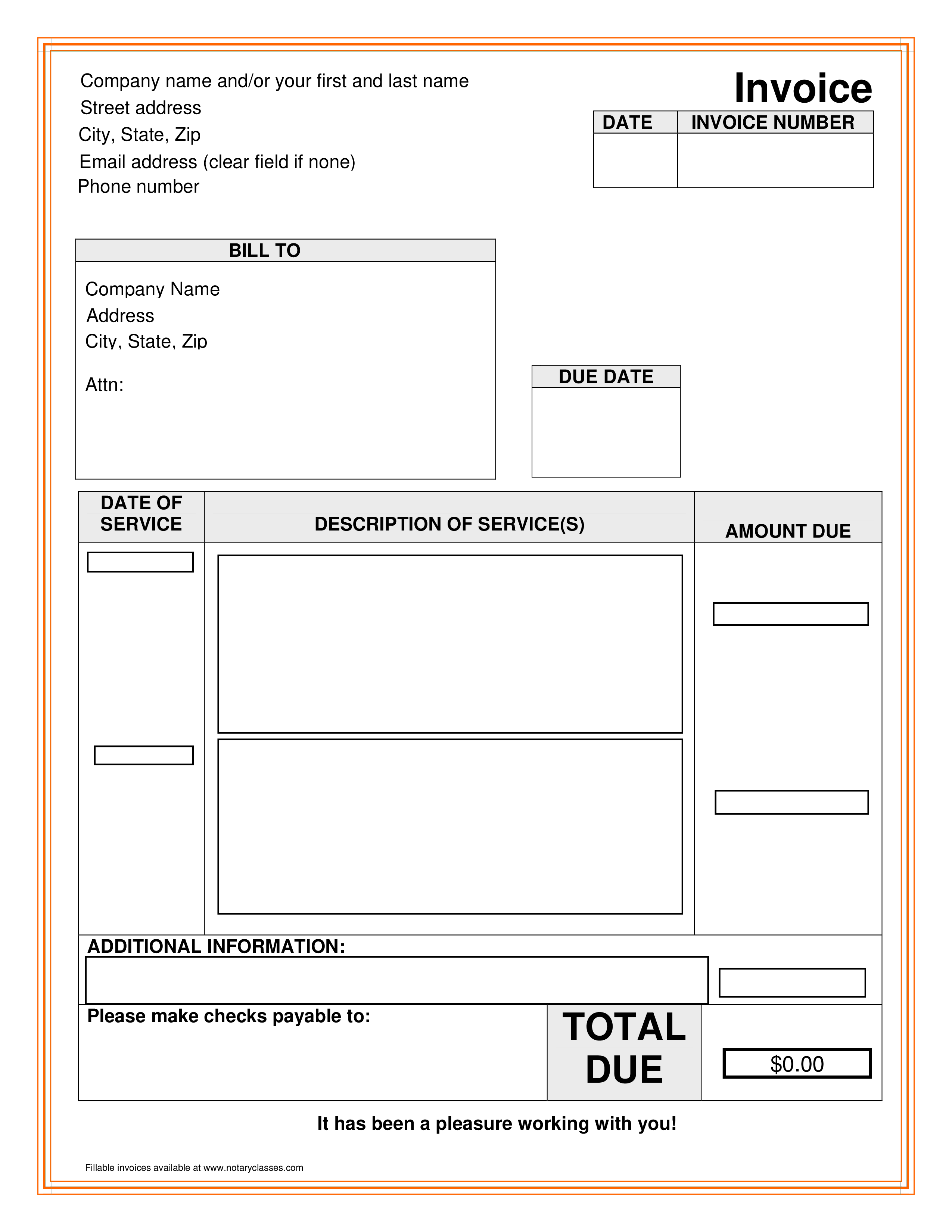 Wonderbaar Blank Billing Invoice - How to create a Billing Invoice? Download CW-11