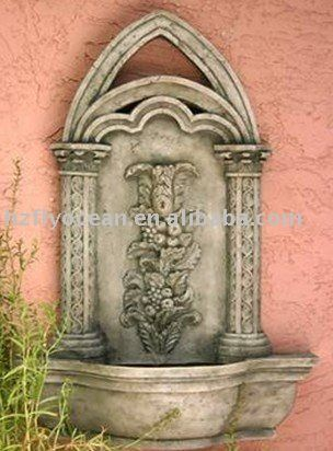 #wall Mounted Fountain, #polyresin Garden Waterfall, #outdoor Water Feature