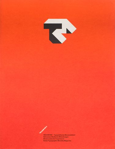 Typographische Monatsblätter 1985 Issue 5  Cover Design: Jost Hochuli Typefaces: Lettering, Univers