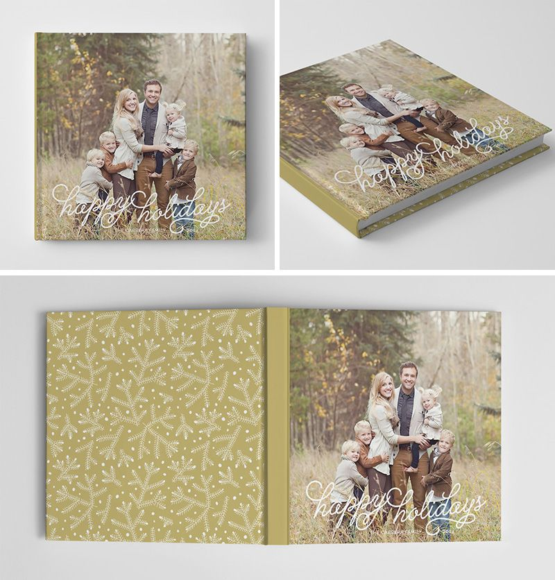 Holiday Book Album Cover Template for Photographers photography – Psd Album Cover Template