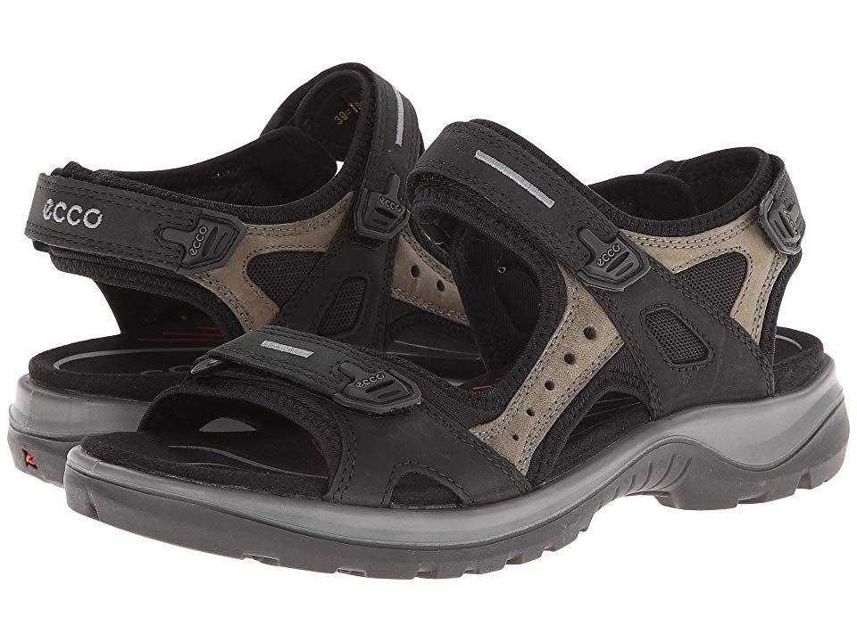 7a1f5faed122 ECCO Sport Yucatan Sandal (Black  Mole  Black) Women s Sandals. Performance  sports