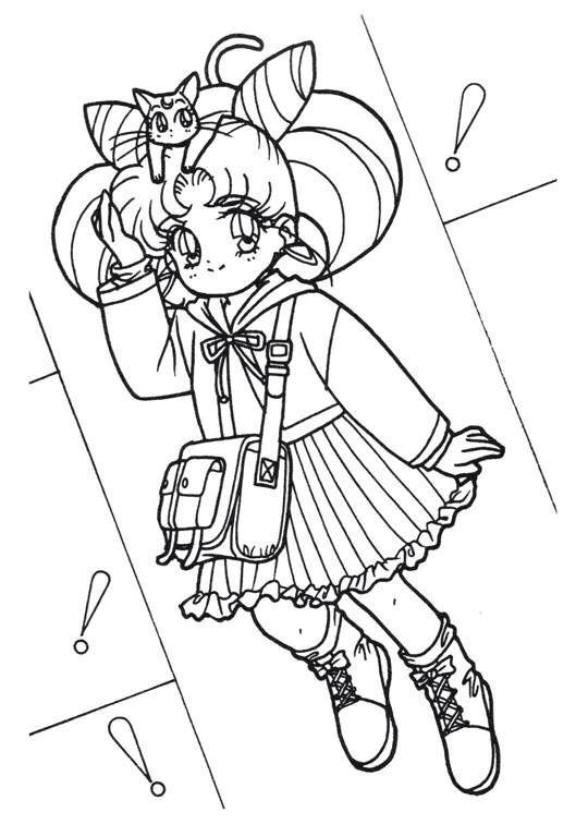 Sailor Moon Series Coloring Pages: ChibiUsa | sailor moon coloring ...
