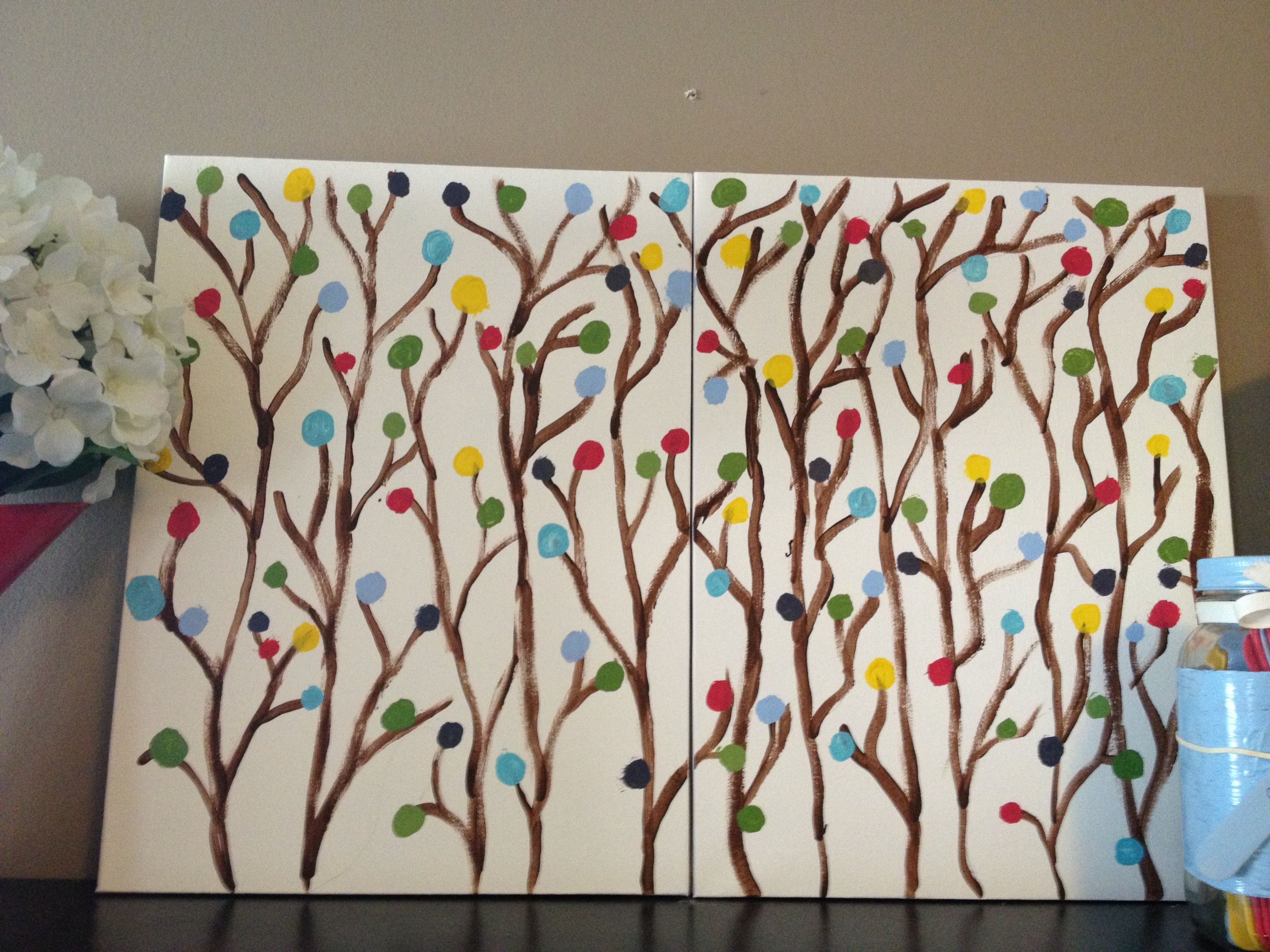 Diy Artwork Using Canvas Boards From Dollarama And Acrylic
