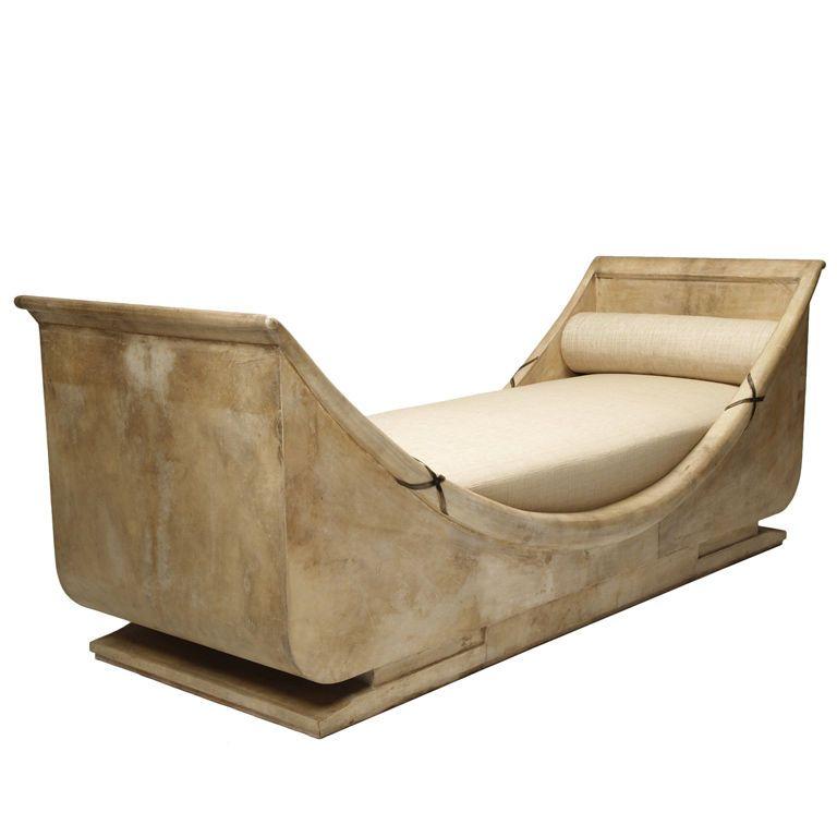 1stdibs Bateau Divan In Parchment Clad Oak By Andre Arbus Art Deco Furniture Art Deco Fashion Art Deco