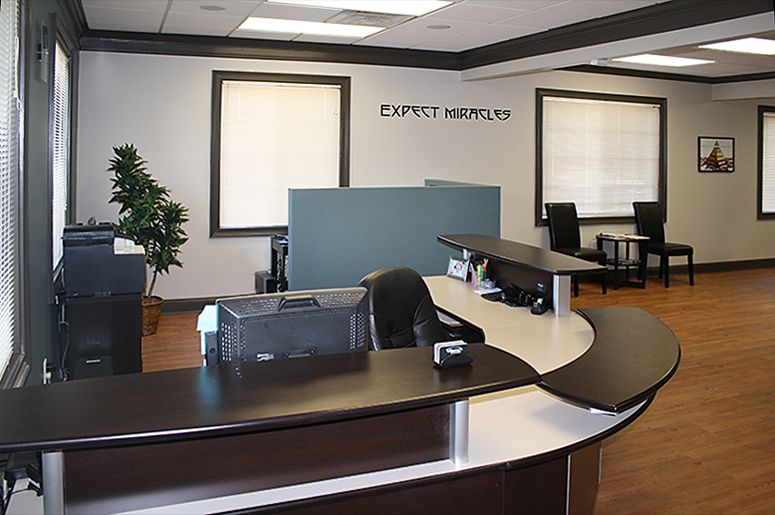 furniture design for front desk of doctor dentist or chiropractor rh pinterest com Chiropractic Office Chiropractors Offices in Los Angeles
