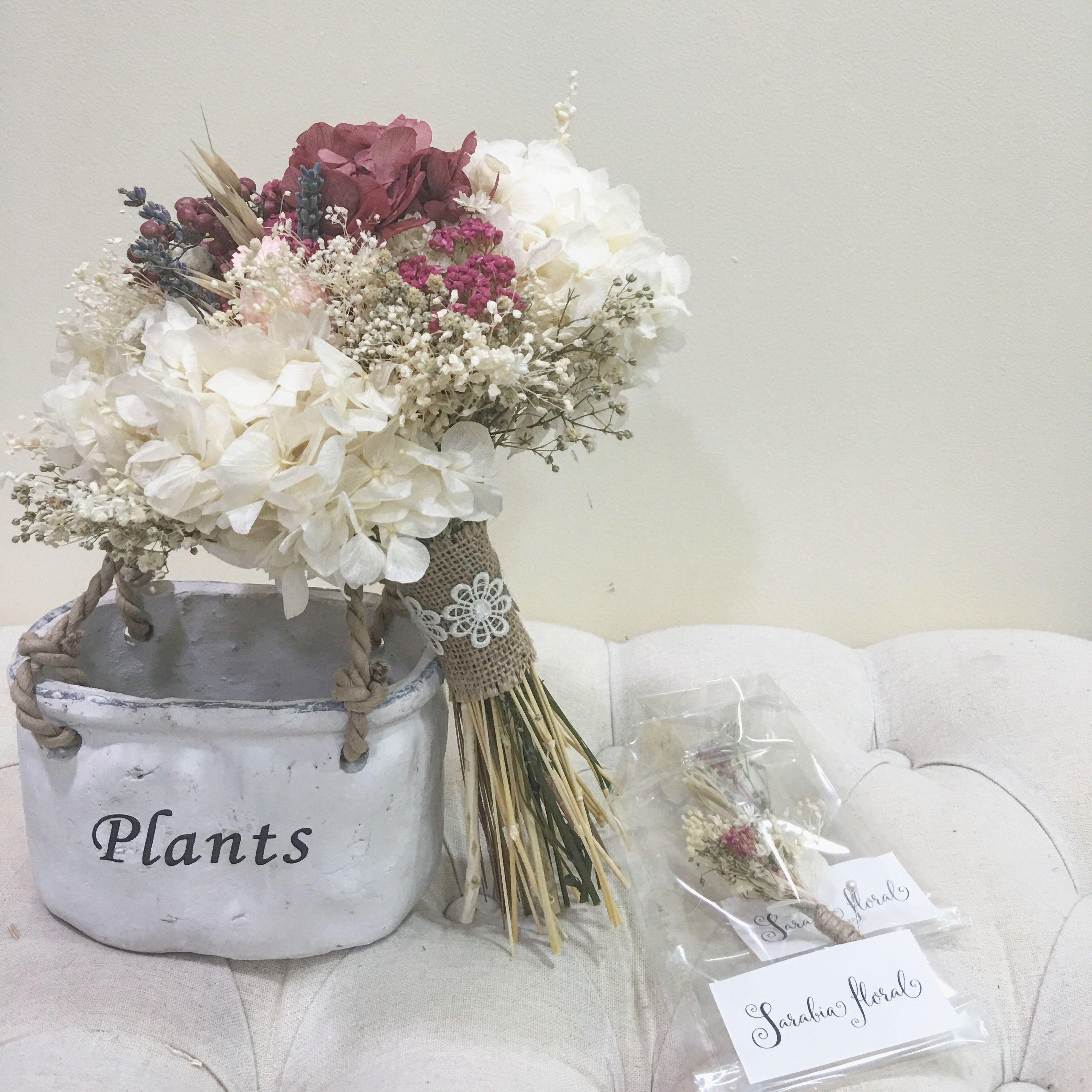 Bouquet Flores Preservadas Novia Vintage Ramos De Novia  ~ Ramos De Novia Flores Preservadas