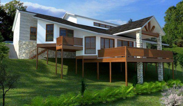 4 Bed Sloping Land House Plans House Plans Australia Coastal House Plans House Designs Exterior
