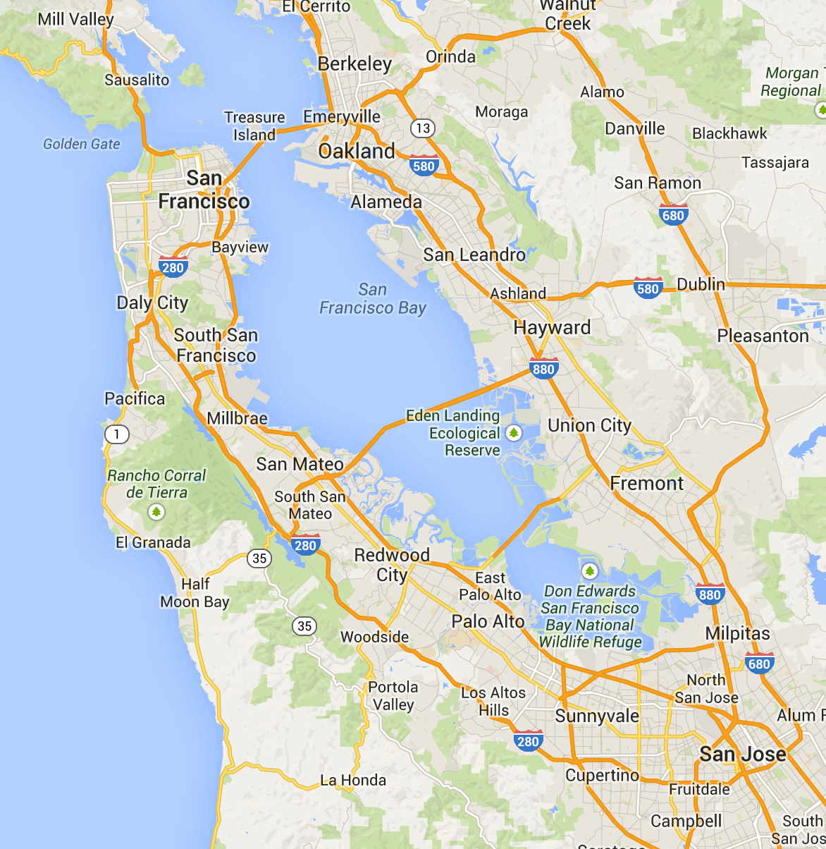 Printable Bay Area Map / Please click view map button.