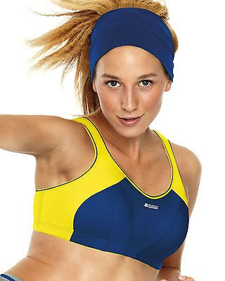New shock absorber high impact #sports non #wired bra navy yellow 4490 #various,  View more on the LINK: 	http://www.zeppy.io/product/gb/2/200907513097/