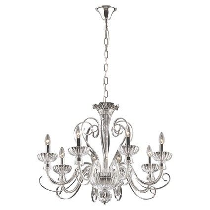 Alexander Sp8 Ideal Lux Candle Style Chandelier Hanging Lamp