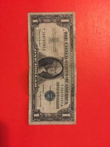 blue seal 1957 silver certificate dollar bill gold silver council