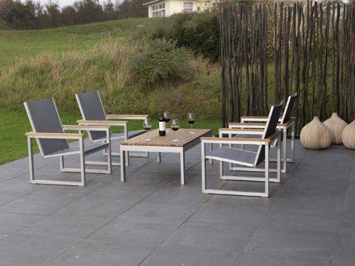 PEGASUS Lounge Gartenmöbel Lounge Gartenset A 5-teilig Alu