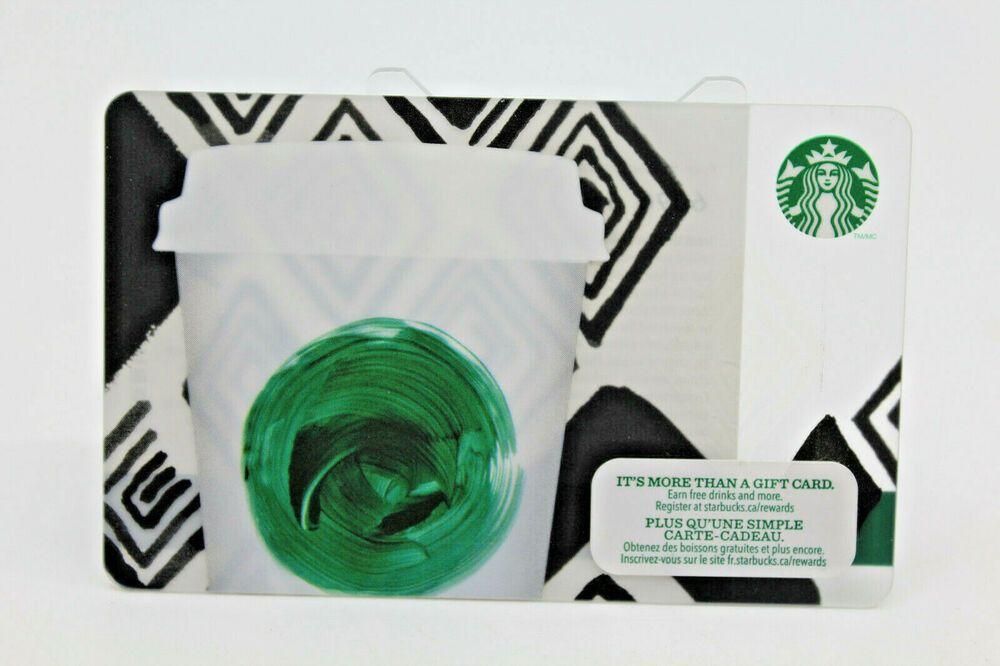 Starbucks coffee 2013 gift card canada tribute green dot