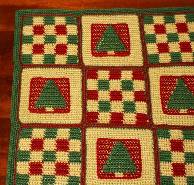 Patchwork Crochet Christmas Afghan Christmas Afghan Red Green And