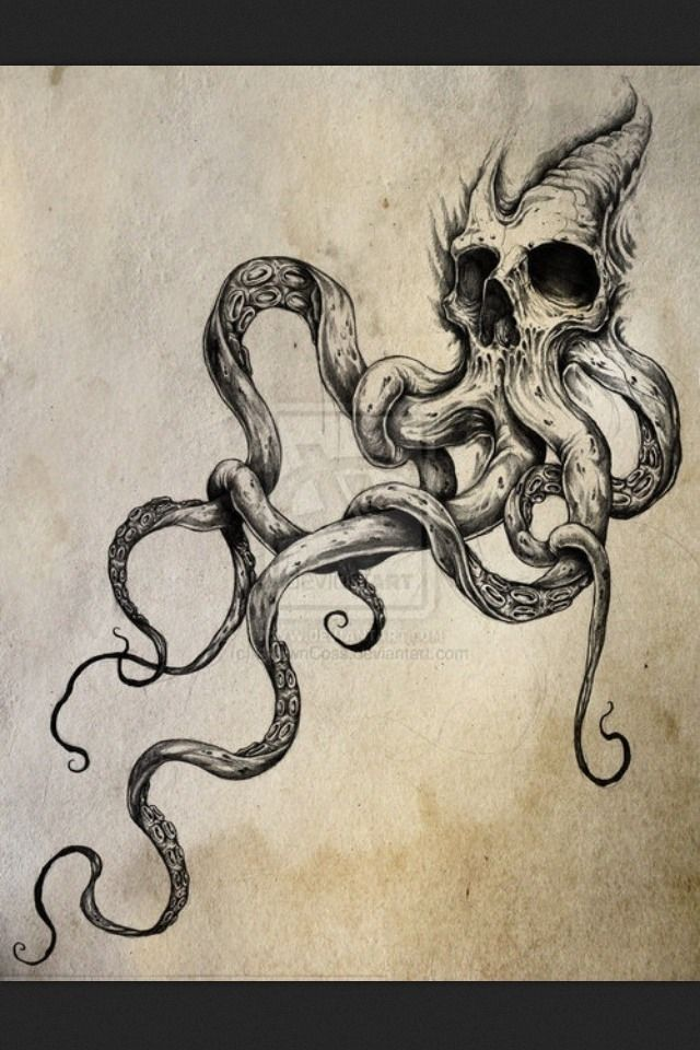 3 octopus tattoo tumblr with a tree coming from the top ink pinterest totenk pfe. Black Bedroom Furniture Sets. Home Design Ideas