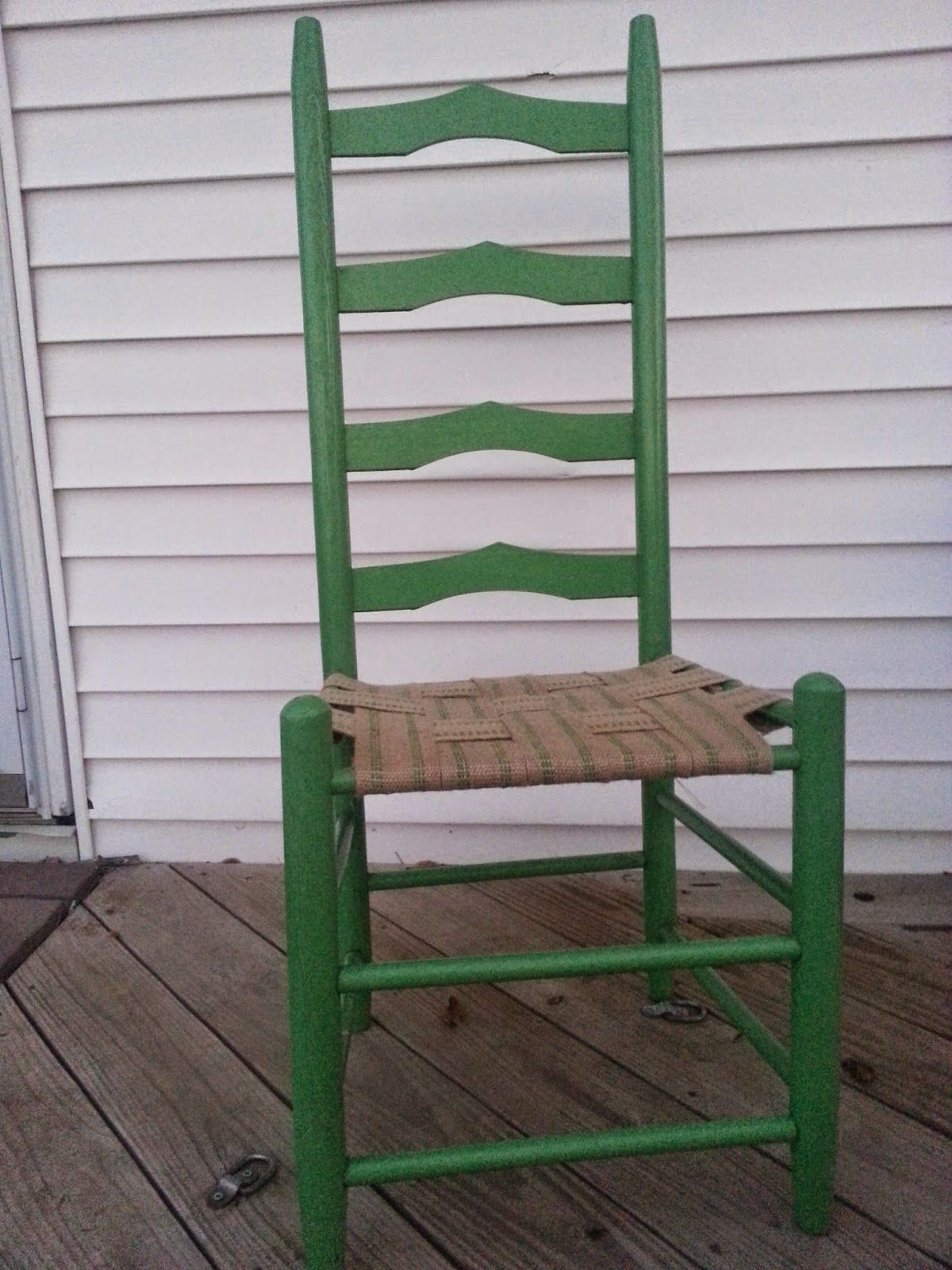 Adding Webbing To Replace The Cane Seat Deck On A Ladder Back Chair.  Reclaim, Renew, Remodel