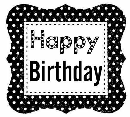 Happy Birthday Black And White Images