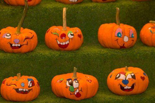 Painted Pumpkin Faces