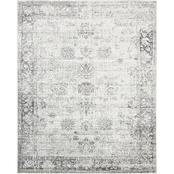 gray and white rug. Brandt Machine Woven Gray/White Area Rug (150 CAD) ❤ Liked On Polyvore Featuring Home, Rugs, Gray Rug, White Grey And