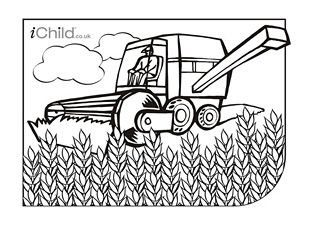 enjoy colouring in these activities! with this printable activity ... - John Deere Combine Coloring Pages