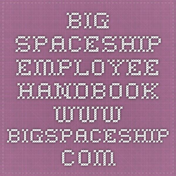 Big Spaceship Employee Handbook WwwBigspaceshipCom  Create