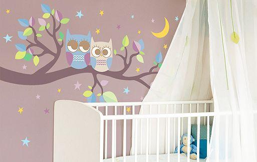 kleine nachteulen f r eure w nde wandsticker von sch ner dekokram pinterest. Black Bedroom Furniture Sets. Home Design Ideas