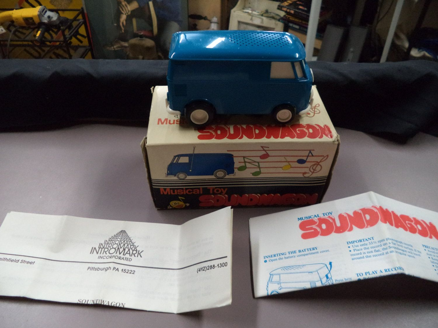 Musical Soundwagon New In Box Volkswagon Vw Bus Record Player
