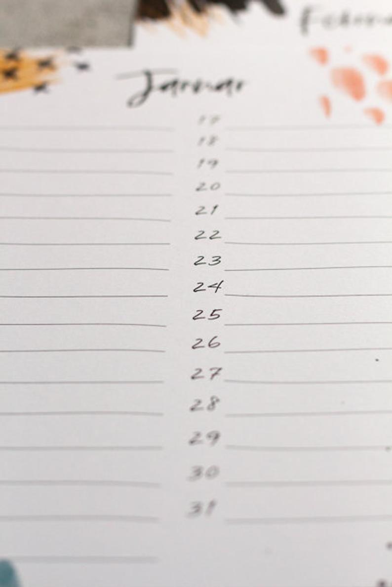 Geburtstags Kalender Jahreskalender Kalender Geburtstag