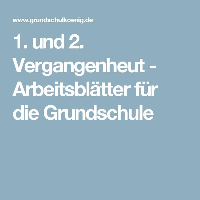 1 und 2 vergangenheut arbeitsbl tter f r die grundschule deutsch grammatik. Black Bedroom Furniture Sets. Home Design Ideas