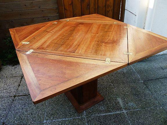 table de carre appel e porte feuille pour salle manger la timonerie antiquit s de marine. Black Bedroom Furniture Sets. Home Design Ideas