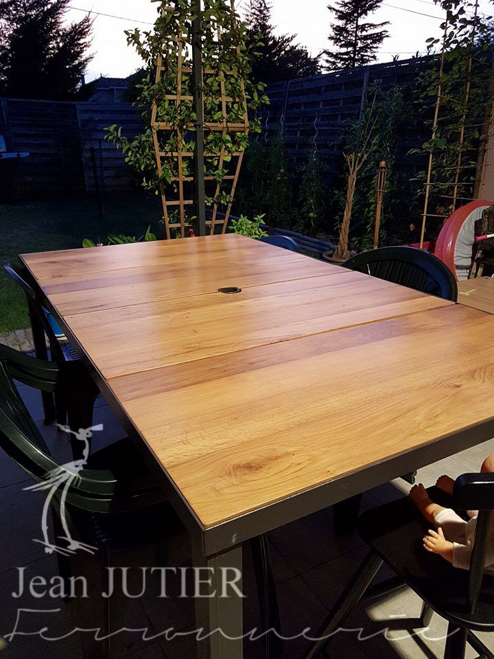 Table | Fer Forgé | Bois | Jardin | Table | Pinterest | Tables and Dan