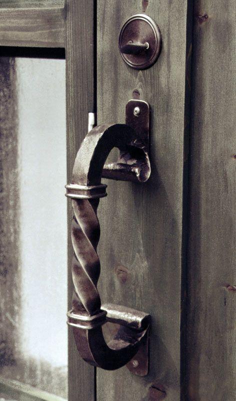 Door Pull - Design From Historic Record - Custom wrought iron door ...