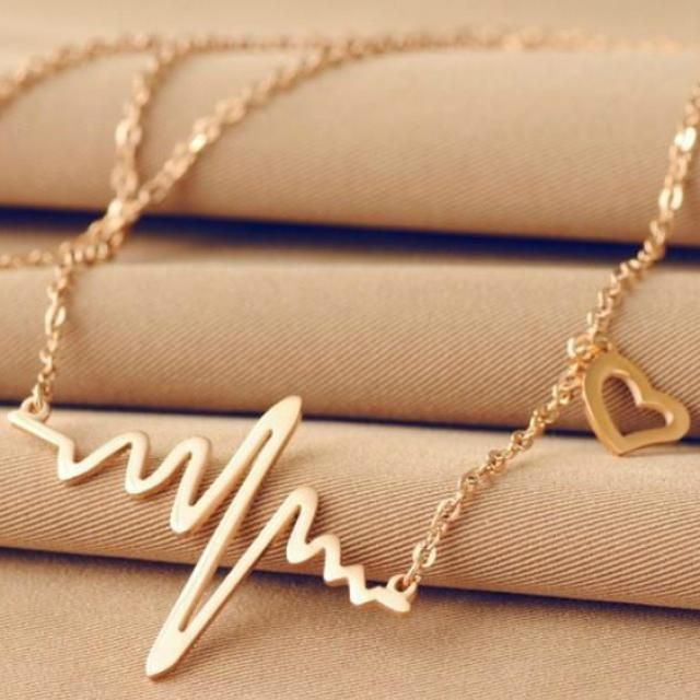 Surprise your loved ones for Easter, with this lovely and super trendy heartbeat necklace from Glittzy. Buy it here:  http://shoptsie.com/glittzy/product/24513-heartbeat-necklace/ #shoptsieproductoftheweek #sellonline #socialmediamarketing #teamshoptsie #webstorewithshoptsie