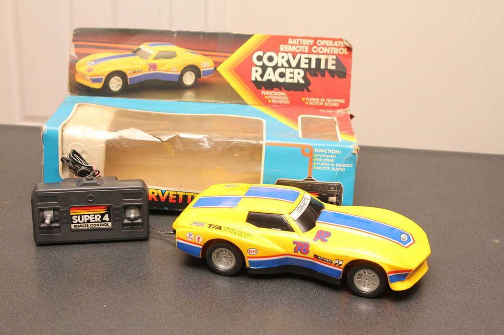 Cool Remote Control Cars: Rare Vintage Corvette Racer Super 4 Battery Operated