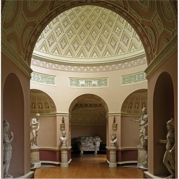 newby hall statue gallery robert adam interior british palladian architecture pinterest. Black Bedroom Furniture Sets. Home Design Ideas